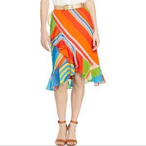 Lauren Ralph Lauren Parolita Ruffle Skirt S